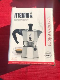 Bialetti 06857 Moka Express StoveTop Coffee Maker, 1-Cup, Al