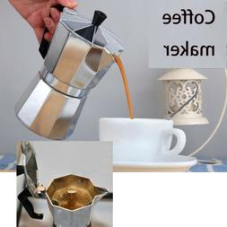 1/3/6/9/12 Cup Metal Moka Espresso Coffee Latte Maker Percol
