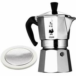 1 Stovetop Espresso & Moka Pots Cup Coffee Maker With Spare
