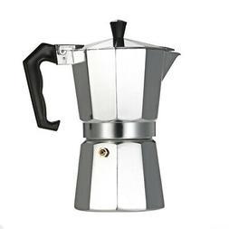 3-Cup Aluminum Espresso Percolator Coffee Stovetop Maker Moc