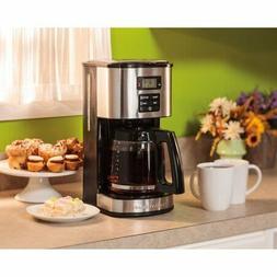 12 Cup Kitchen Programmable Coffee Tea Espresso Maker Stainl