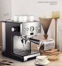 15Bar Espresso Machine Cappuccino Maker Semi-Automatic Coffe