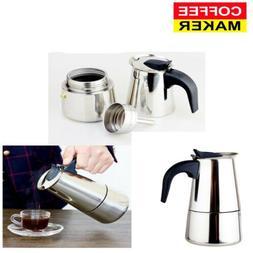 2/4/6-Cup Percolator Stove Coffee Maker Moka Espresso Latte