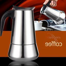 2/4/6-Cup Percolator Stove Top Coffee Maker Moka Espresso La