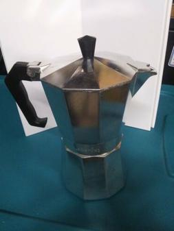 Primula 3 Cup Aluminum Espresso Coffee Maker New w/o box , S
