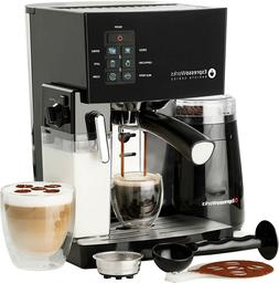 3 in 1 Espresso Coffee Machine Cappuccino Maker 19-Bar Grind