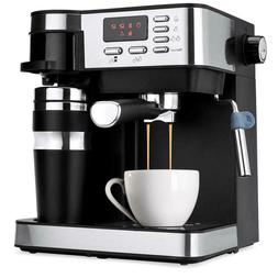 3 in 1 Espresso Coffee Machine Cappuccino Maker Programmable