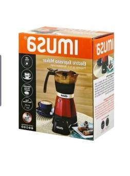 3 or 6-cups Imusa Fresh Espresso Coffee Maker, Electric, Qui