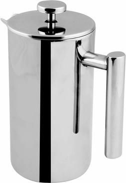 32 Oz French Press Coffee Maker Double Wall Stainless Steel