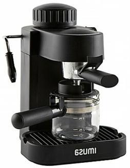 IMUSA 4-Cup Espresso/Cappuccino Maker In Black