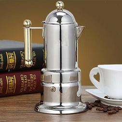 4 Cup Italian Coffee Maker Stainless Steel Moka Percolator P