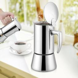4 cup stainless steel stovetop espresso coffee