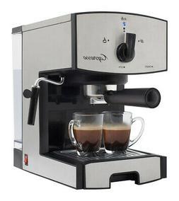 Capresso  42 oz. Black/Silver  Coffee & Espresso Maker