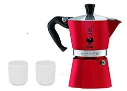 Bialetti 4942 Moka Express Espresso Maker, Red 3-Cup