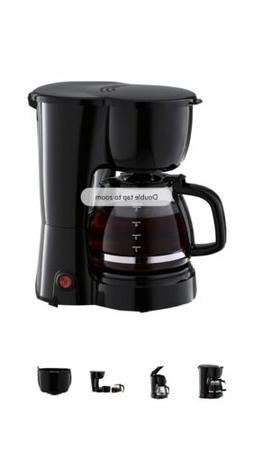 5 cup coffee maker removable filter basket