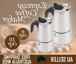 6/10 CUP Espresso Coffee Maker Moka Latte Percolator Stoveto