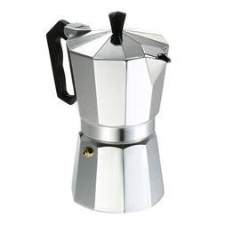 6-Cup Aluminum Espresso Percolator Coffee Stovetop Maker Moc