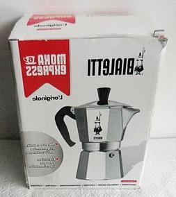 Bialetti 6 Cup Moka Express Aluminum Stovetop Espresso Maker