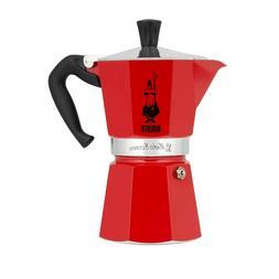 Bialetti 6633 6-Cup Moka Stovetop Espresso Maker, Red