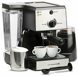 7 Pc All-In-One Espresso Machine & Cappuccino Maker Coffee B
