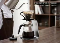 800ml Drip Set Coffee Maker Pour Over Making Glass Stainless
