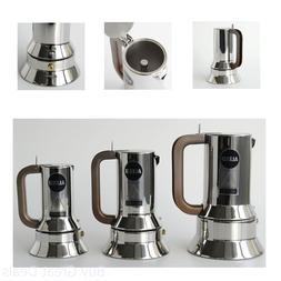 New Alessi 9090/3 Stove Top Espresso 3 Cup Coffee Maker In 1
