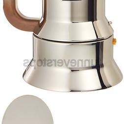Alessi 9090/M Espresso Coffee Maker Silver 17-3/4 Oz