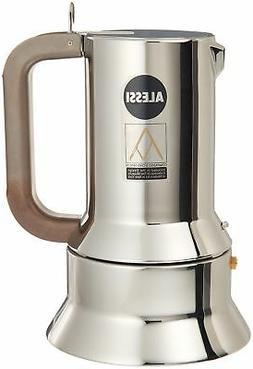 Alessi 9090/M Espresso Coffee Maker, Silver 17-3/4 Oz