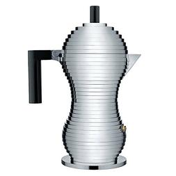 "Alessi MDL02/6 B""Pulcina"" Stove Top Espresso 6 Cup Coffee Ma"