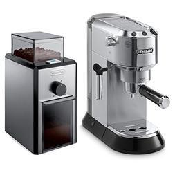 Delonghi Dedica Black Stainless Steel Pump Espresso and Capp