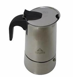 IMUSA USA B120-22062M Stainless Steel Stovetop Espresso Coff