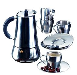 IMUSA USA B120-22069SET Stainless Steel Espresso Set with St
