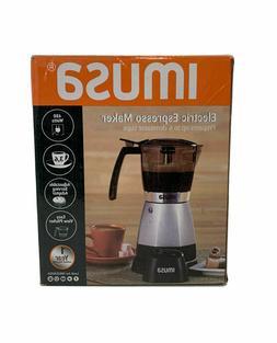 IMUSA USA B120-60006 Electric Coffee/Moka Maker 3-6-Cup, Bla