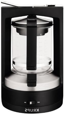 KRUPS KM4688 Moka Brewer Filter Coffee Maker, 10-Cup, Black
