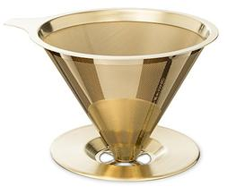 Osaka Titanium Coated Pour Over Coffee Dripper with Double L