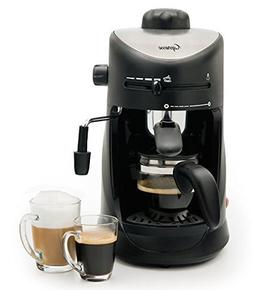 Premium 4 Cup Espresso & Cappuccino Machine, Black Finish wi