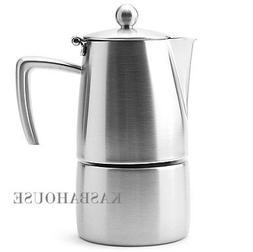 "Ilsa Coffee Maker ""Slancio"" for Induction - Inox 18/10 4-cup"