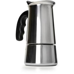 Stainless Steel 6-Cup Stovetop Espresso Maker with Silicone