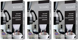 Urnex Dezcal Coffee & Espresso Descaler and Cleaner - 3 Pack