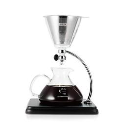 Yama Glass CD-8 Silver Pour Over Coffee Maker, Clear