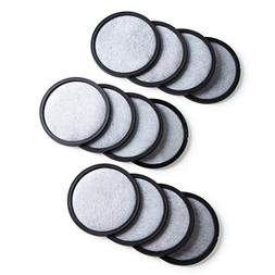 12-Pack Premium Activated Charcoal Water Filter Disk for All