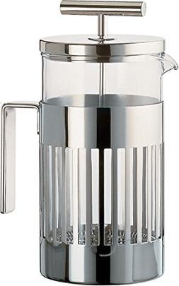 Alessi 9094/8 Press Filter Coffee Maker, Silver