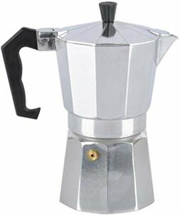 Aluminum 9-Cup Large Stovetop Manual Italian Style Espresso