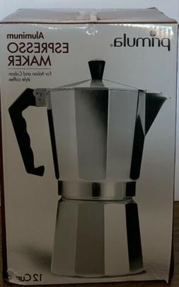 PRIMULA Aluminum Espresso Maker / 12 Cups