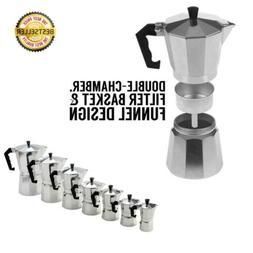 Aluminum Italian Espresso Coffee Stovetop Maker Pot Percolat