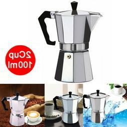 Aluminum Italian Moka Espresso Coffee Maker Percolator Stove