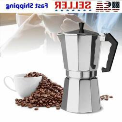 Aluminum Stove Top Espresso Coffee Moka Pot Maker Percolator