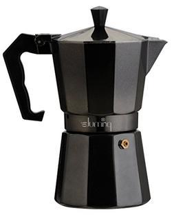 6 Cup Aluminum Stovetop Espresso Maker - Black