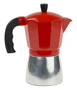 Home Basics Aluminum Stovetop Espresso Maker, Red