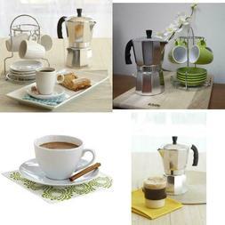 ALUMINUM STOVETOP MOKA Espresso Coffee Pot Maker Percolator